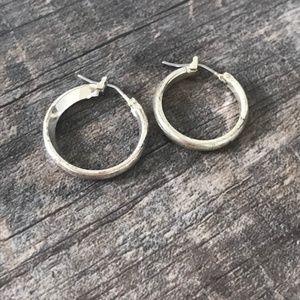 Silver Toned Hoop Earrings
